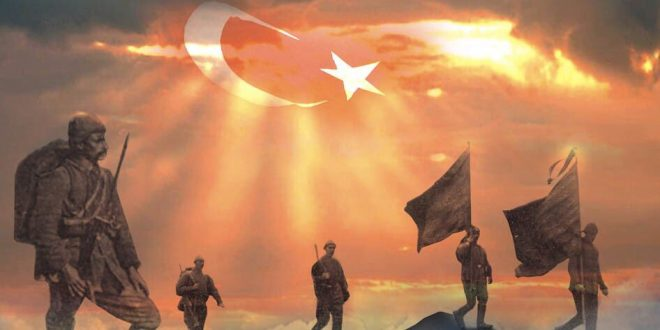 Şehit Asker Mehmetçik Vatan Bayrak