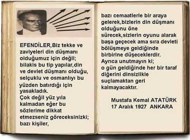 Atatürk 17 Aralık 1927 söz