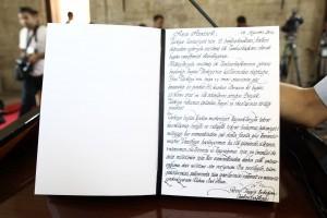 Erdoğan Anıtkabir Özel Defteri