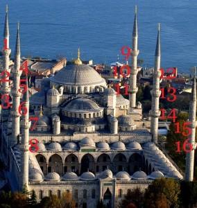 sultan ahmed camii şerefeleri