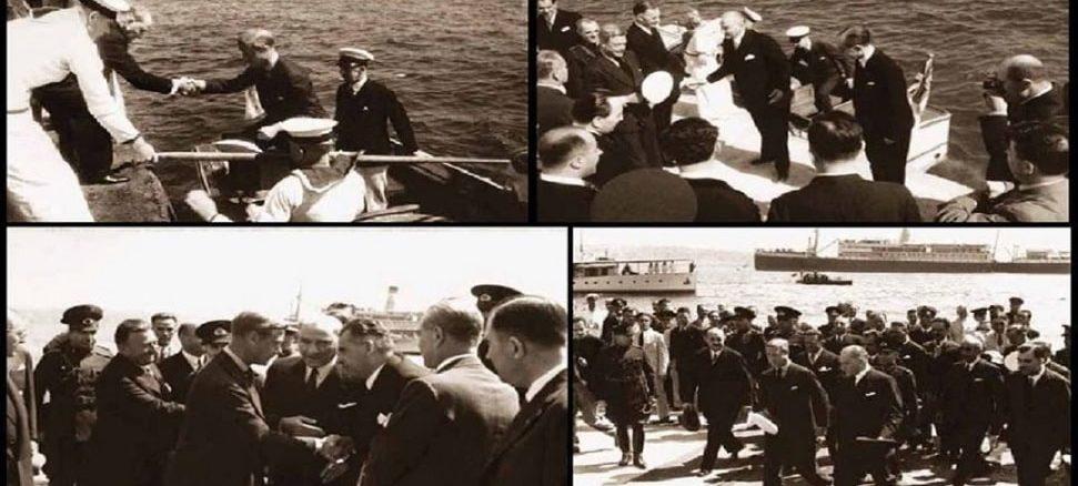 Kral 8. Edward'ın Dolmabahçe'de Atatürk Tarafından Karşılandığı An